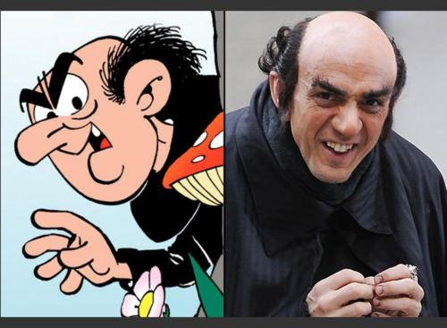 Gargamel played by Hank Azaria