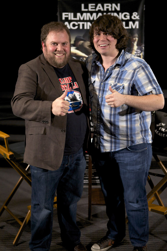 Screenwriting Chair Eric Conner with 'Smiley' Director Michael Gallagher at New York Film Academy