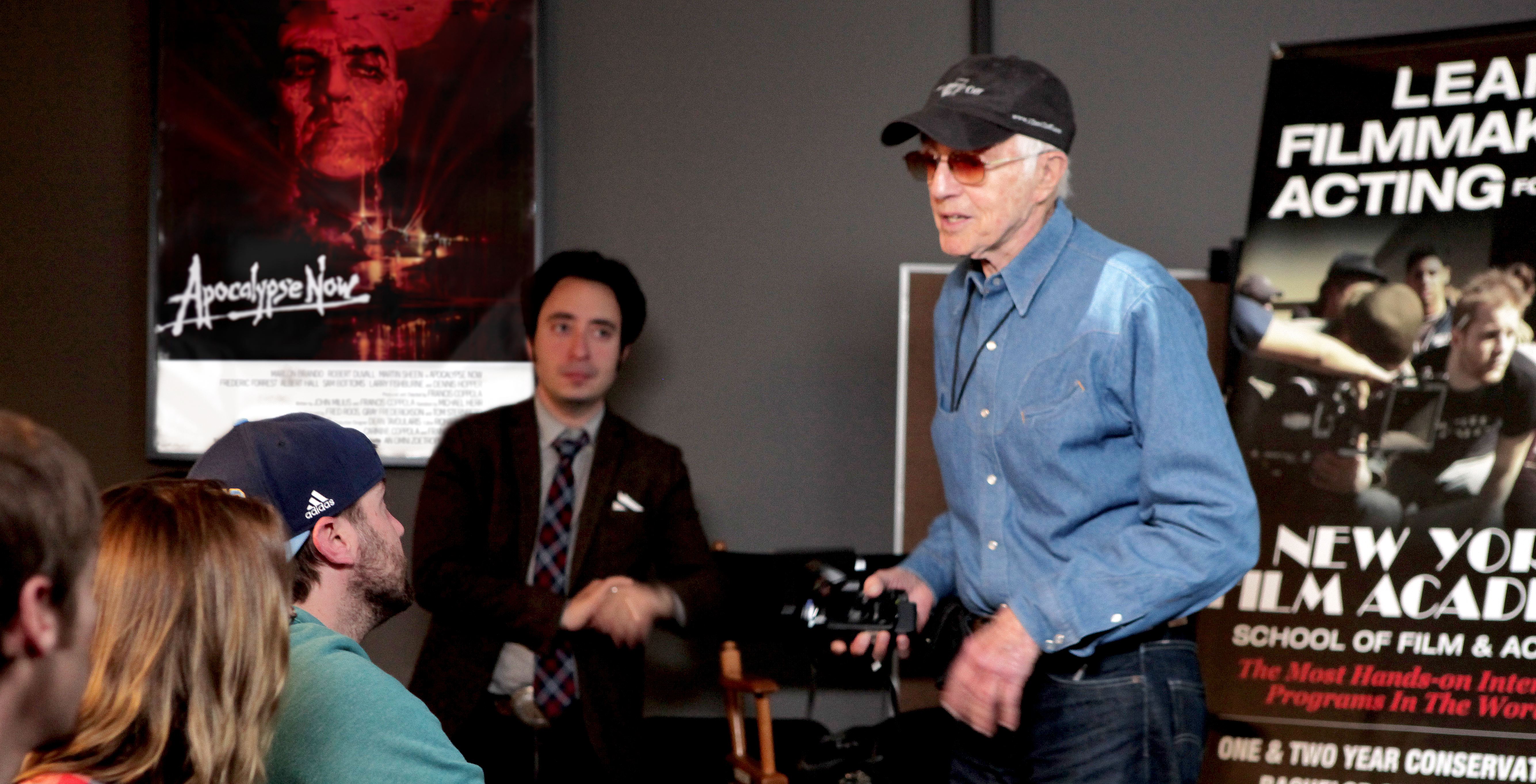 Oscar-winning cinematographer Haskell Wexler speaks to students