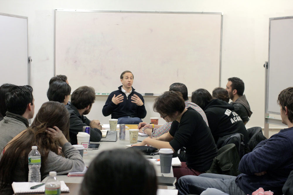 Michael Rauch speaking to NYFA students.