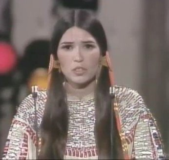 Scheen Littlefeather at the 1973 Oscars