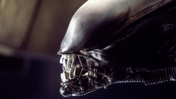 alien head designed by H.R. Giger for the movie Alien
