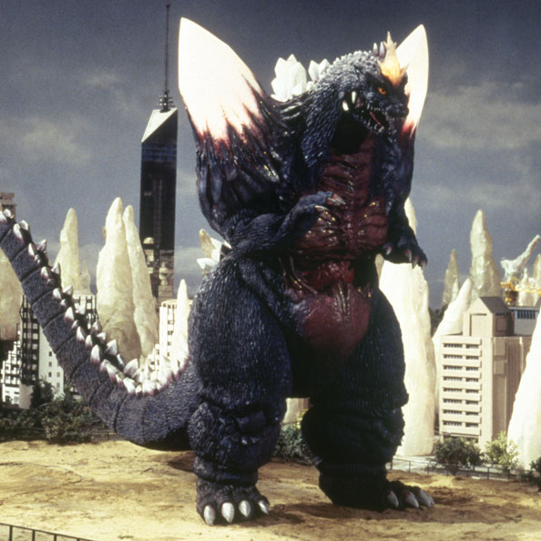 SpaceGodzilla in a scene from Godzilla vs. SpaceGodzilla