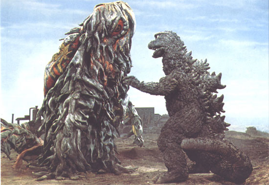Godzilla battles Hedorah the smog monster