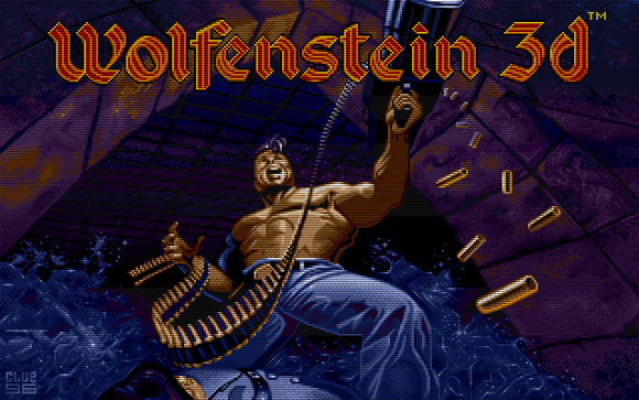 Home screen from Wolfenstein 3D