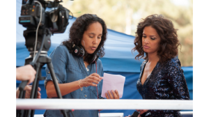 Gine Prince-Bythewood on the set of Beyond the Lights