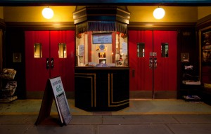 A movie ticket booth