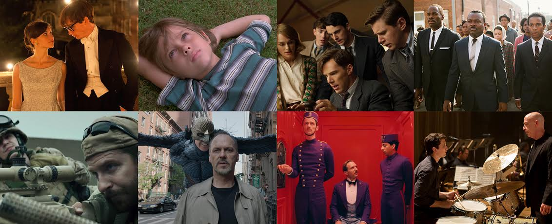 A collage of the 2015 Oscar Best Picture Nominees