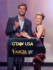 Scarlett Johansson Presents Chris Hemsworth at 2015 G'DAY USA and AACTA International Awards 2015