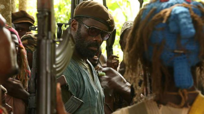 Idris Elba in a scene from Beasts of No Nation