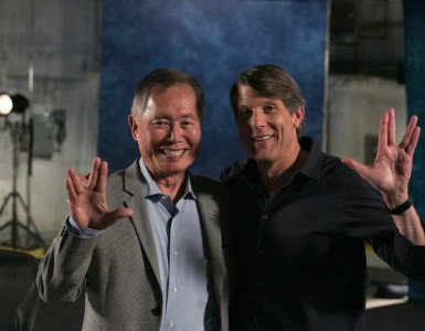 George Takei with NYFA Instructor Adam Nimoy