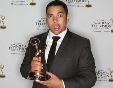 NYFA Alum Cody Broadway with his Heartland Emmy Award