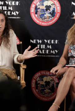 Producer Giorgia Lo Savio and NYFA Chair of Filmmaking Maylen Dominguez