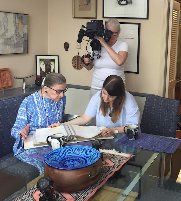 Claudia Raschke with Ruth Bader Ginsberg