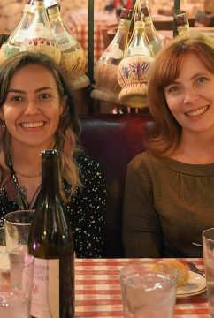 Fulbright grantee Maya Riquelme, with Amy Ellenberger, NYFA Director of Recruitment