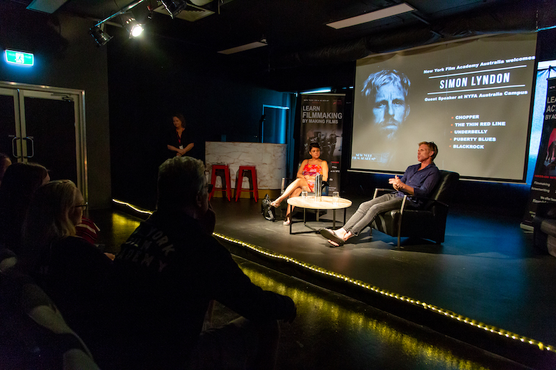 Cinzia Coassin and Simon Lyndon answer questions from New York Film Academy Australia students