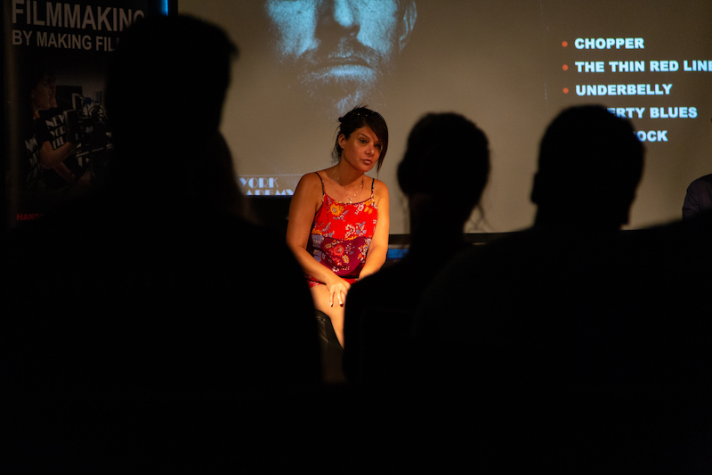 Cinzia Coassin answers questions from students at New York Film Academy Australia