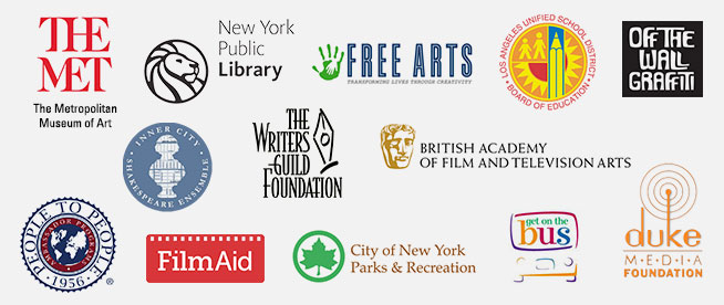 Logos of community programs that NYFA works with