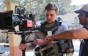 Students work hands-on with the Red Epic camera at NYFA