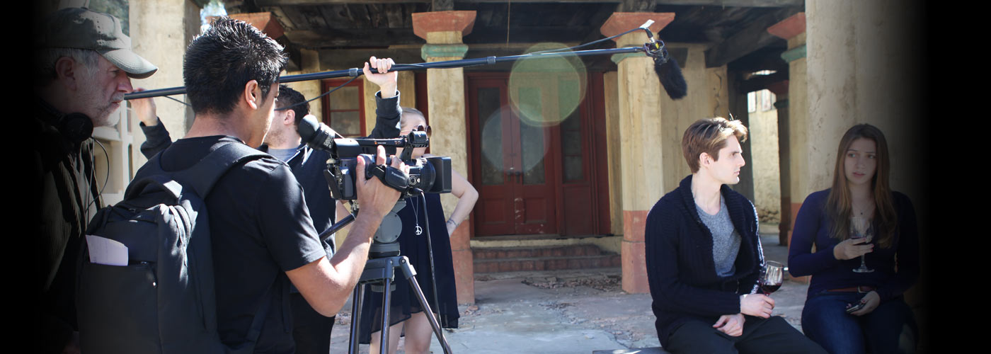 New York Film Academy students shoot an intimate scene on location.