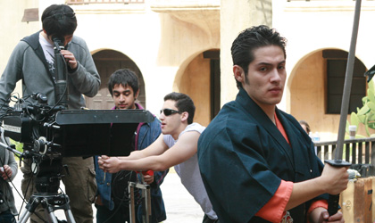 NYFA MFA acting school student in ninja attire
