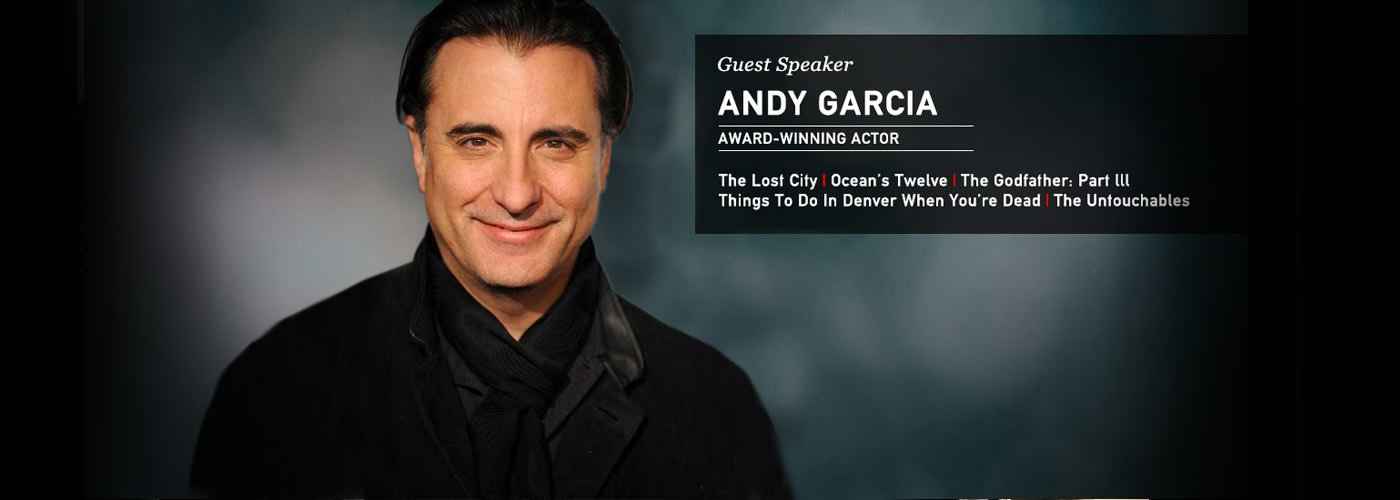 NYFA guest speaker award-winning actor Andy Garcia
