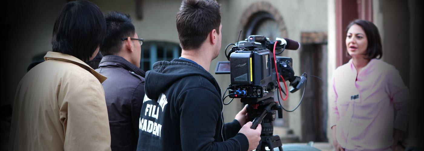 NYFA Acting School in Los Angeles student performs on set