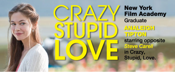 NYFA graduate Analeigh Tipton stars in Crazy Stupid Love