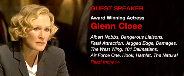 NYFA guest speaker award winning actress Glenn Close