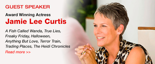 NYFA guest speaker award winning actress Jamie Lee Curtis