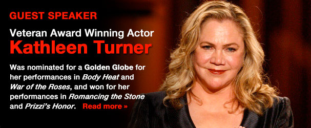 NYFA Guest Speaker Veteran Award Winning Actor Kathleen Turner