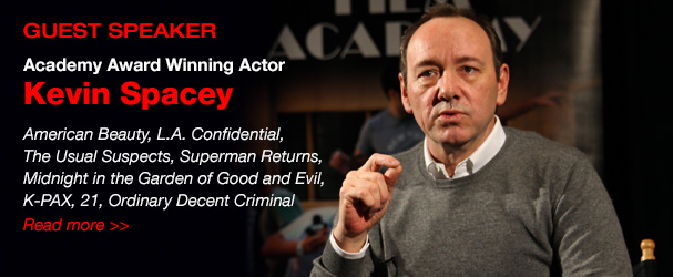 NYFA guest speaker academy award winning actor Kevin Spacey