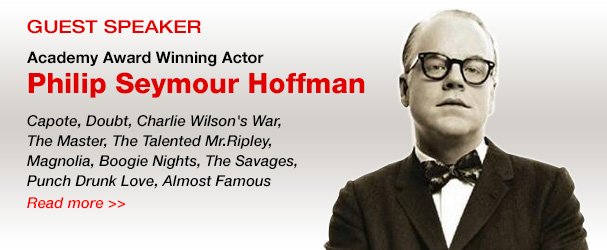 NYFA guest speaker Academy Award winning actor Philip Seymour Hoffman