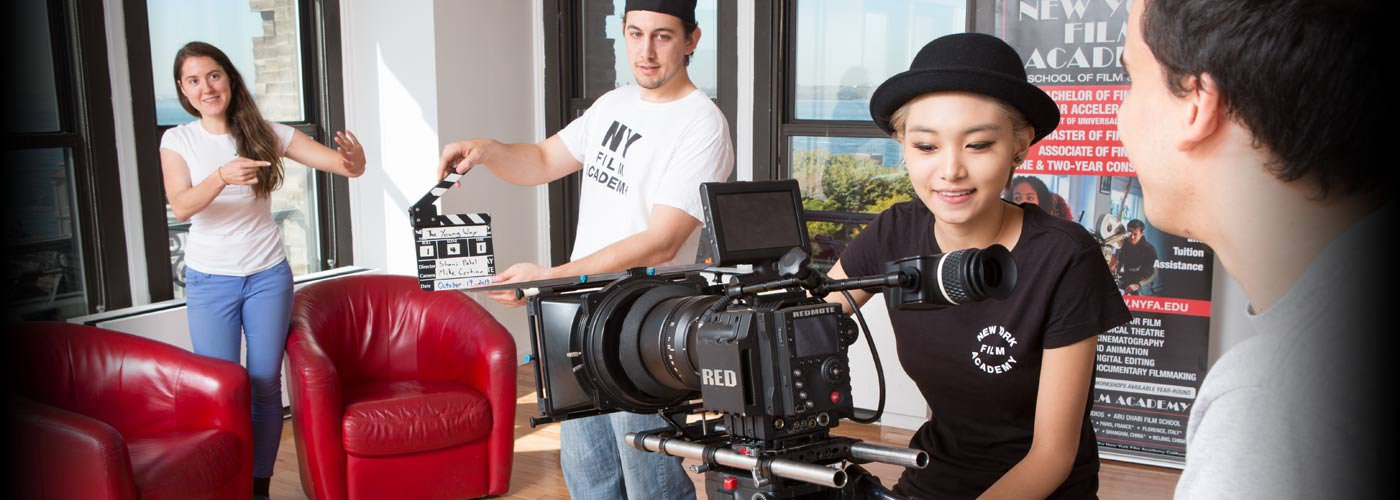 Students prepare a scene at NYFA in Los Angeles