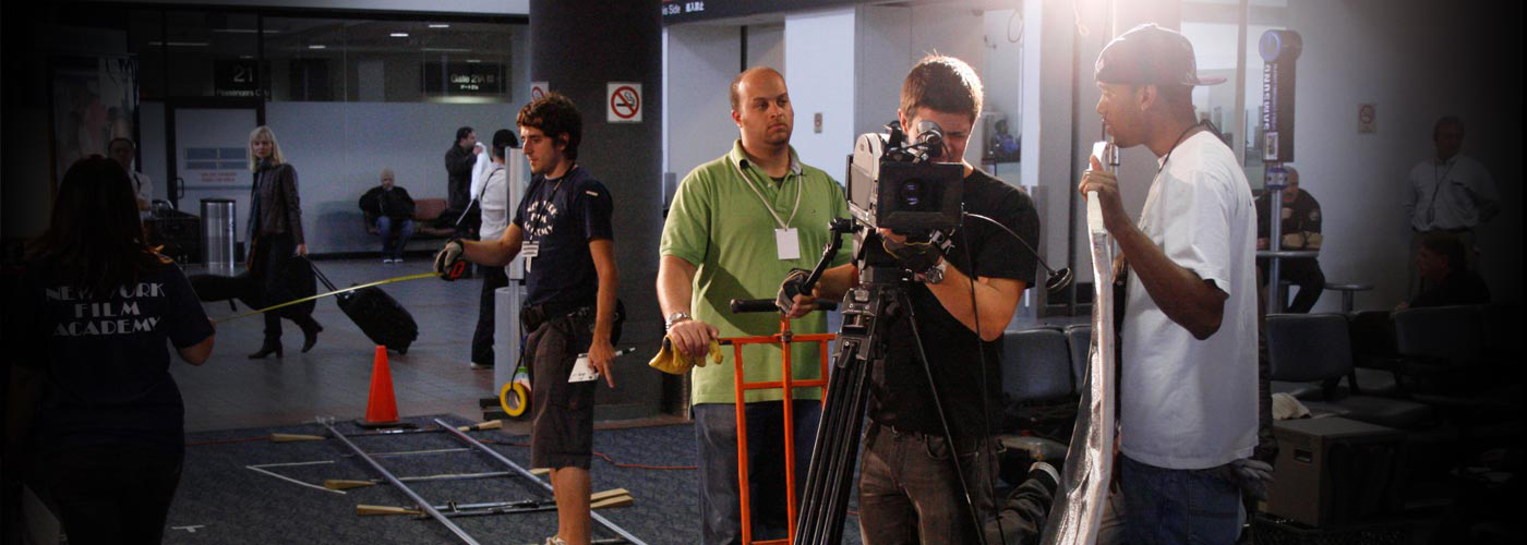 AFA Filmmaking students on set