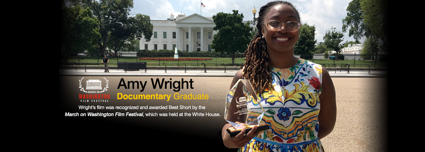 Documentary grad Amy Wright