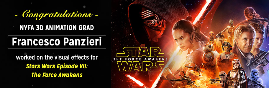 NYFA 3D Animation Grad Francesco Panzieri worked on Star Wars