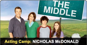 Acting Camp Graduate Nicholas McDonald