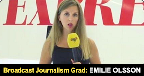 Broadcast Journalism Graduate Emilie Olsson