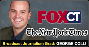 Broadcast Journalism Graduate George Colli