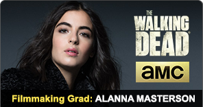 NYFA Filmmaking Graduate Alanna Masterson acting in The Walking Dead