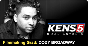 Filmmaking grad Cody Broadway