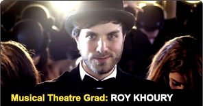 Musical Theatre Graduate Roy Khoury