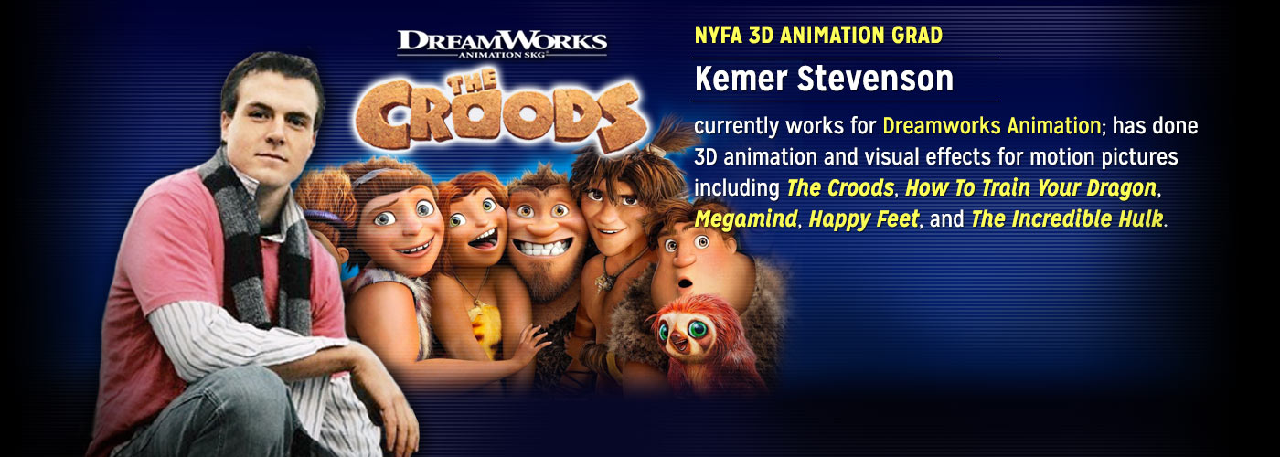 NYFA 3D Animation Grad Kemer Stevenson works for DreamWorks Animation