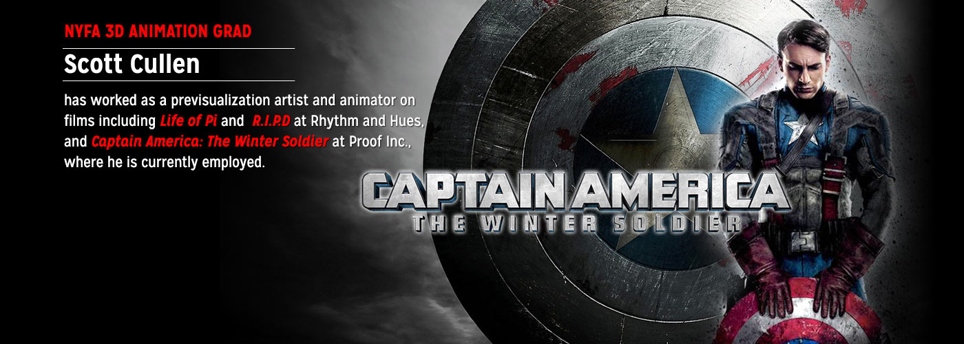 NYFA 3D animation grad Scott Cullen worked on Captain America
