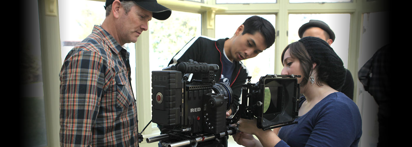 NYFA instructor supervises BA Media Studies students with Red Epic
