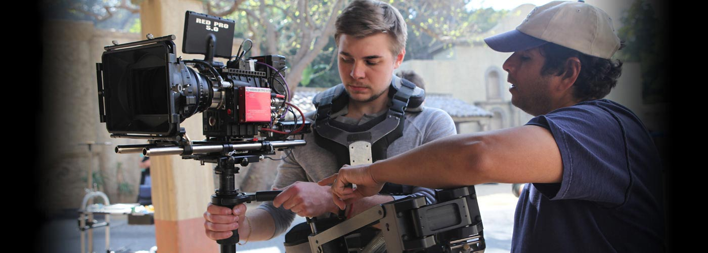 BA Media Studies students shoot with the Red Epic camera