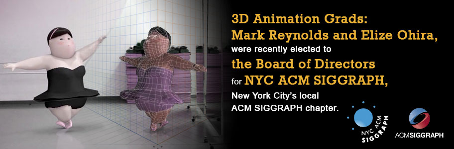 3D Animation Graduate Mark Reynolds and Elize Ohira