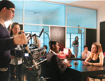 students performing a scene in shoot, bfa in acting for film at the new york film academy