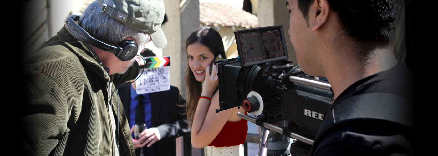 A NYFA BFA acting student on camera
